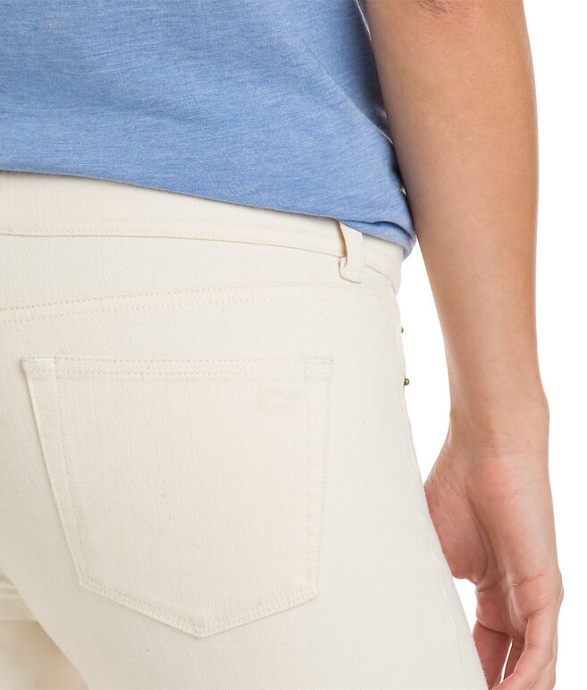 Raw Hem 5 Pocket Skinny Denim
