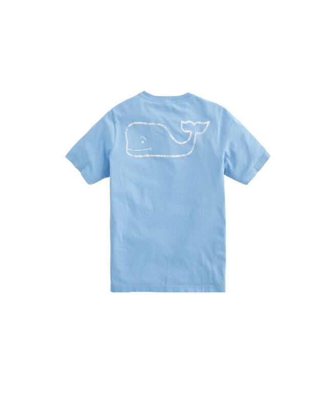 Boys Garment-Dyed Vintage Whale Short-Sleeve Pocket Tee