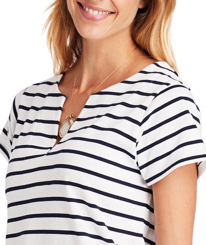 Striped Knit Tunic Dress