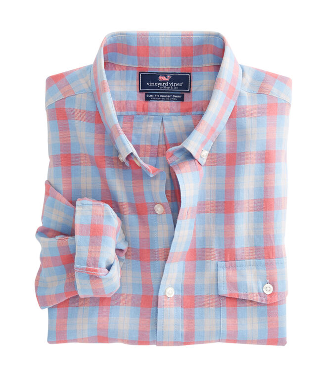 Hullman Point Plaid Slim Crosby Shirt