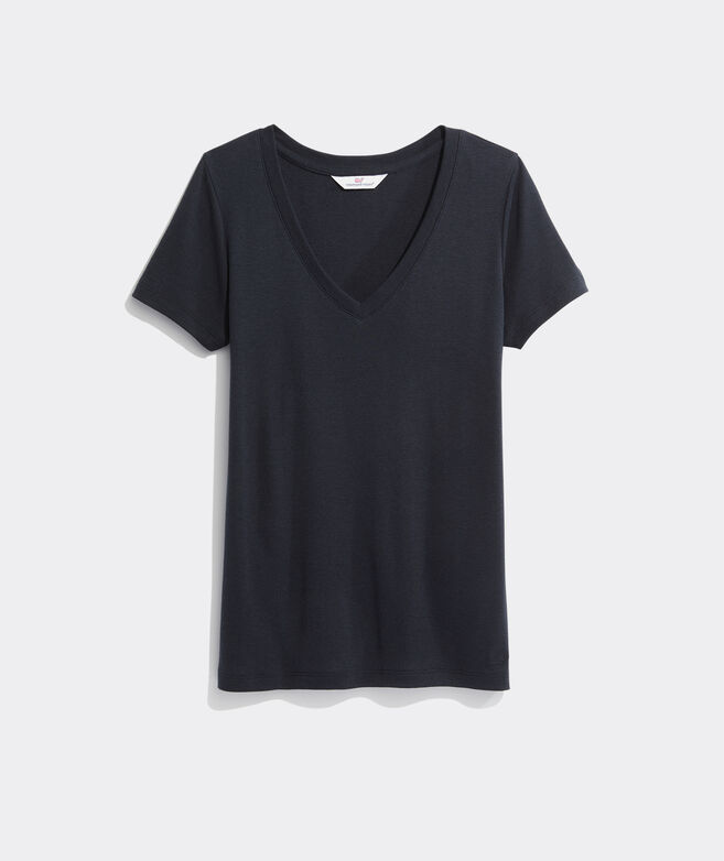 Solid V-Neck Simple Tee
