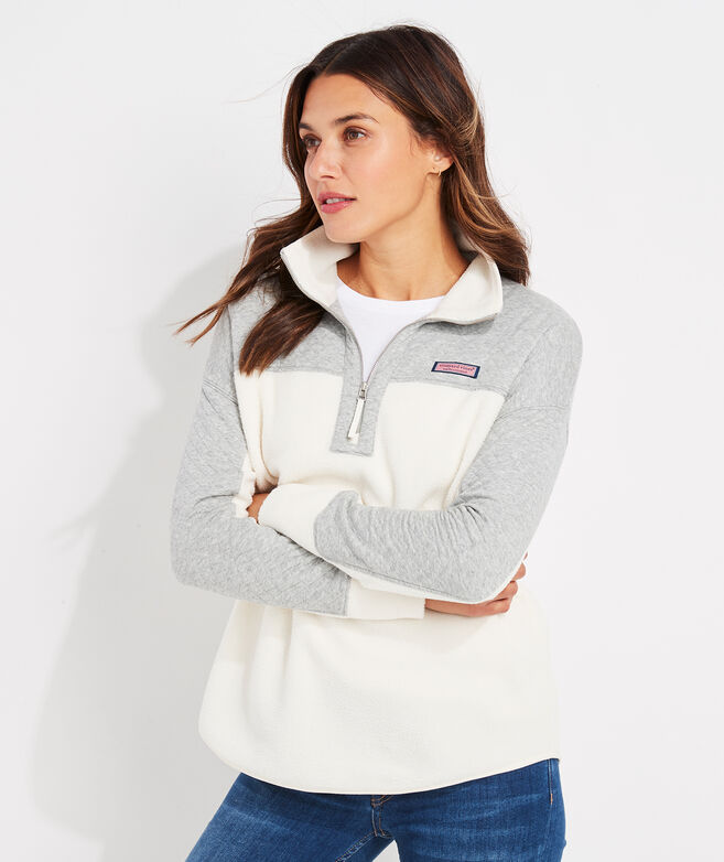 Mixed Media Vineyard Sherpa 1/2-Zip