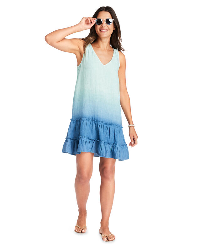 Dip-Dye Ruffle Cover-Up