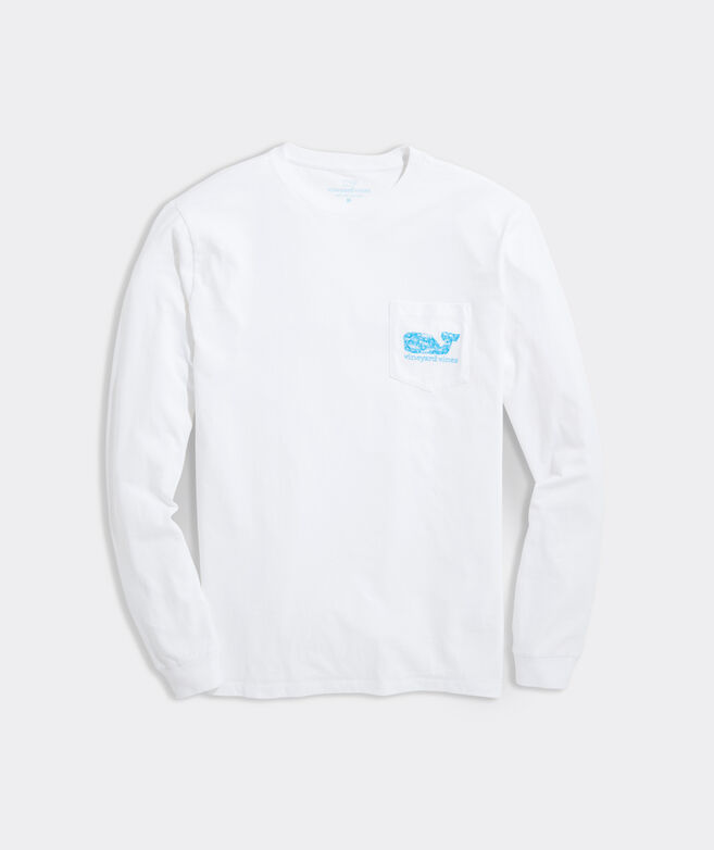 Bluefish & Shells Whale Fill Long-Sleeve Pocket Tee