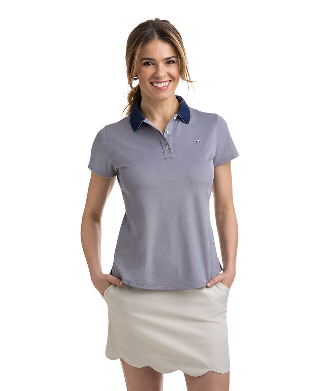 Short-Sleeve Pique Polo