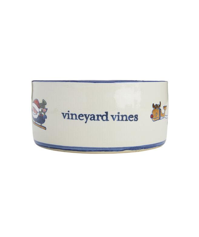 Stoneware Holiday Dog Bowl