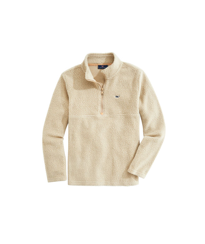 OUTLET Kids' Sherpa Solid Fleece 1/2-Zip