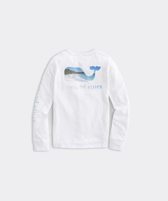 Girls' Glitter Beach Whale Fill Tee
