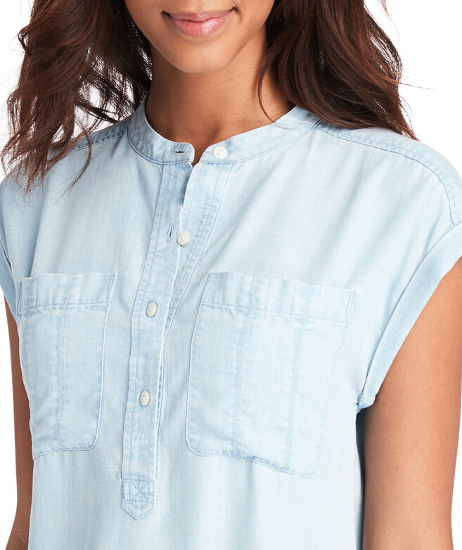 Chambray Dolman Sleeve Margo Shirt Dress