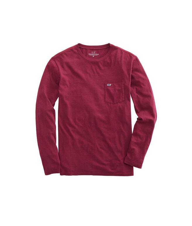 Long-Sleeve Overdyed Heathered T-Shirt