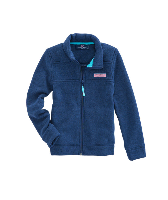 Boys Sweater Fleece Shep Shirt Full-Zip