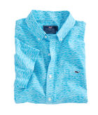 Short-Sleeve Waves Geo Slim Tucker Shirt