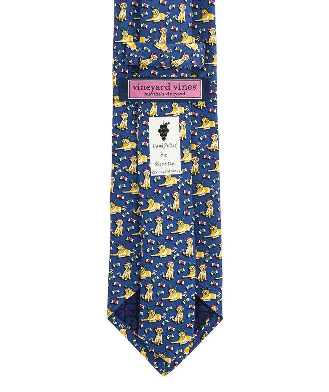 Boys' Santa Paws Printed Tie
