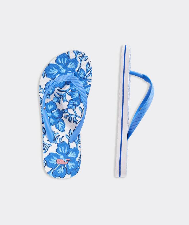 Girls' Morada Floral Printed Flip Flops