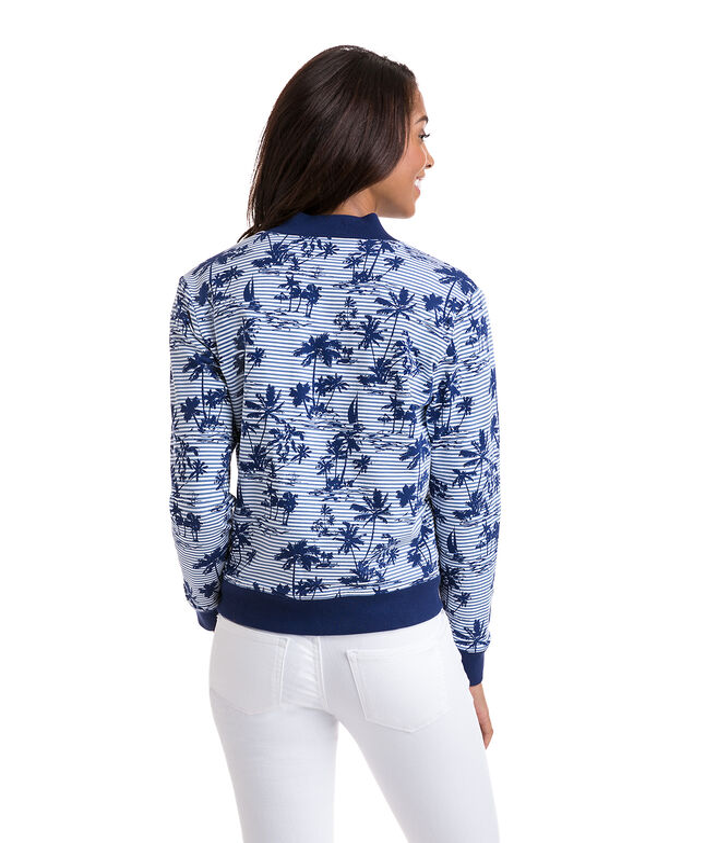 Reversible Bomber Full-Zip Shep Shirt