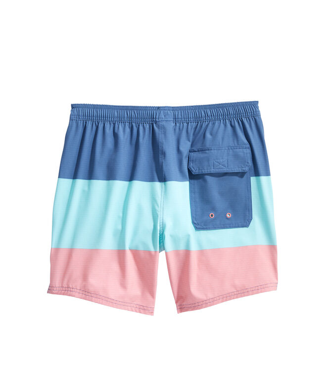 Pieced Fine Line Stripe Chappy Trunks