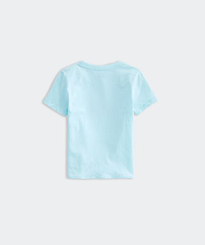 Girls' Glitter Starfish Tie Short-Sleeve Tee