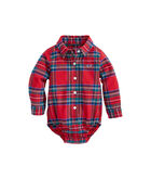 Baby Jolly Plaid Flannel Onesie