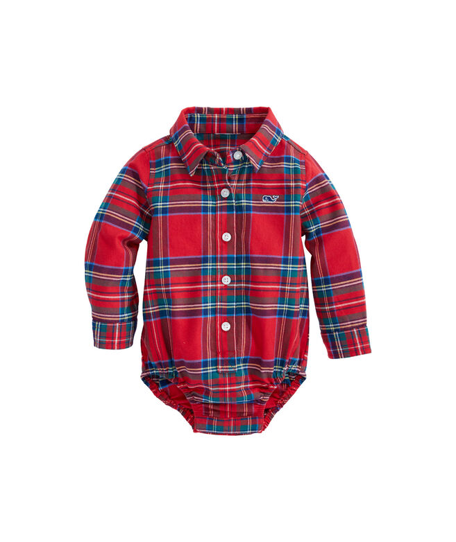 Baby Jolly Plaid Flannel One-Piece