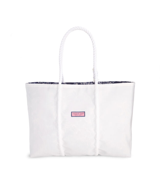 Sea Bags Striped Whale Fill Large Tote
