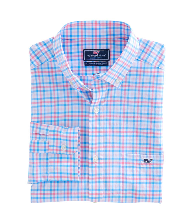 Gulf Shore Gingham Performance Classic Tucker Shirt