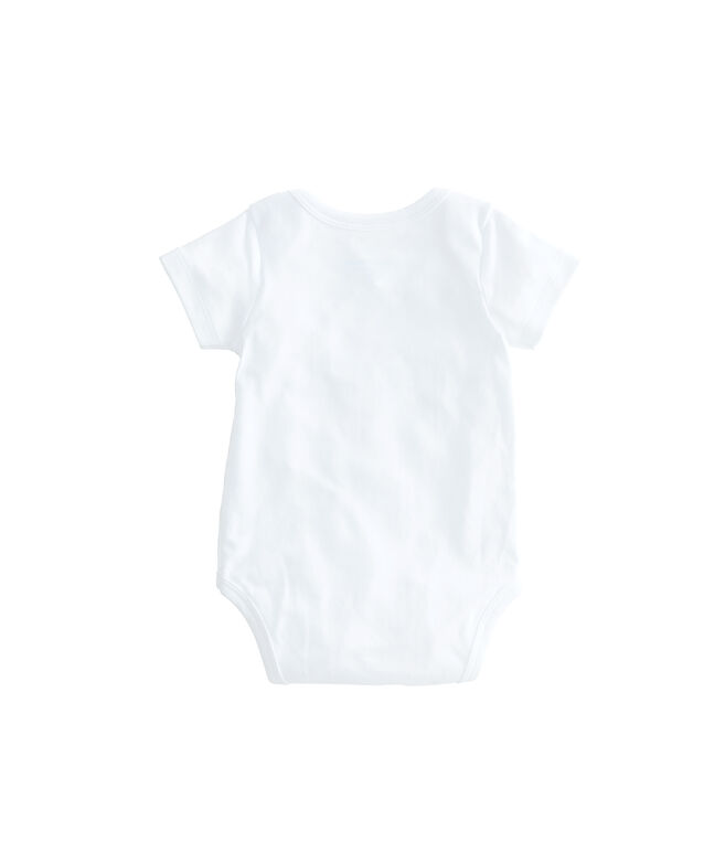 Short-Sleeve Stork Baby Bodysuit
