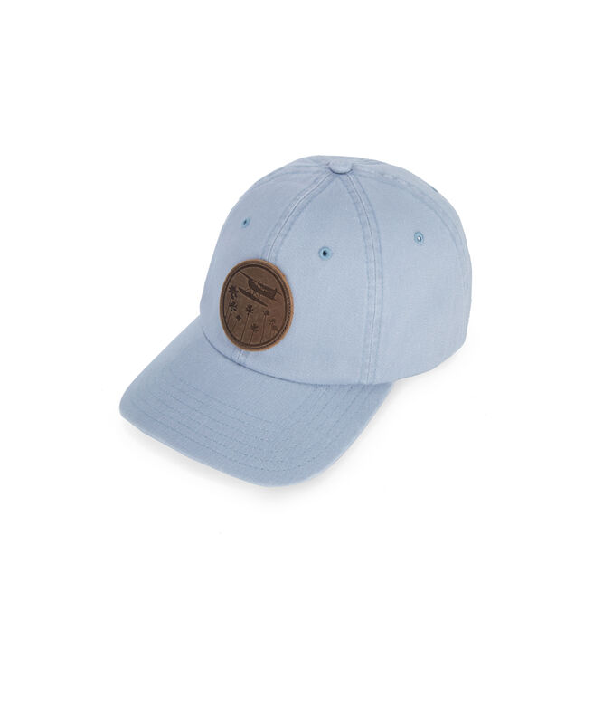 Planes & Palms Leather Patch Hat