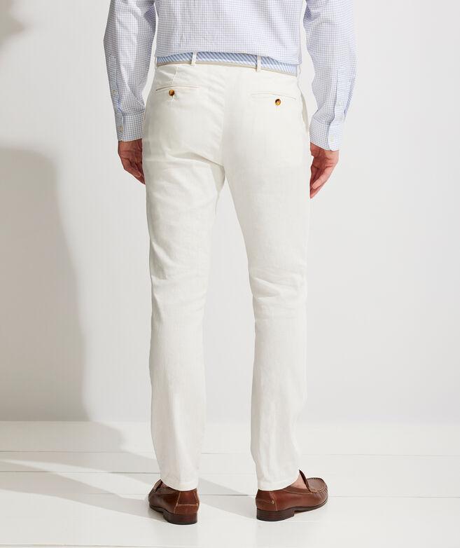 Cotton-Linen Greenwich Pants