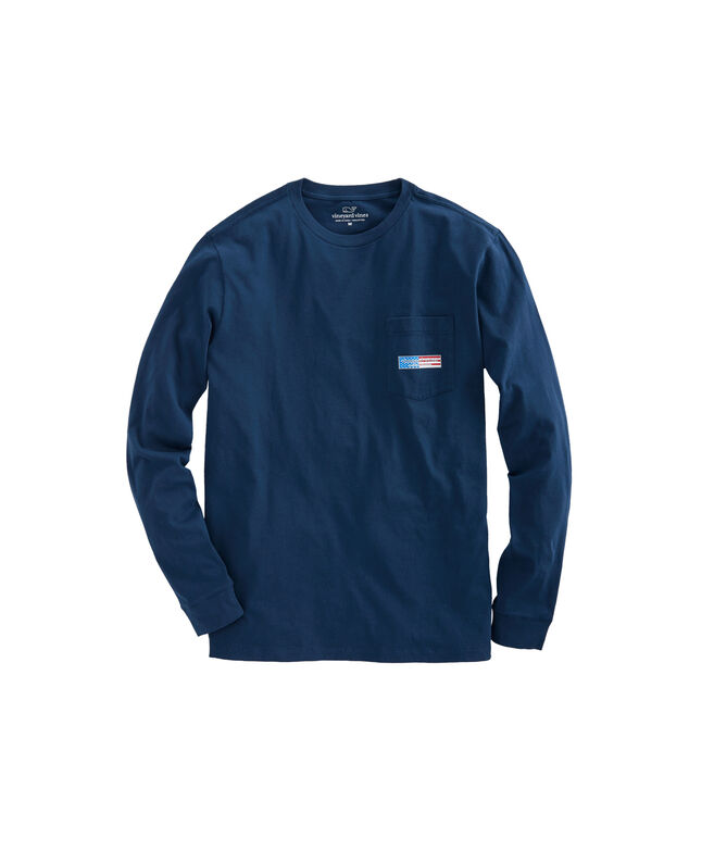 Long-Sleeve Patriot Box Pocket T-Shirt