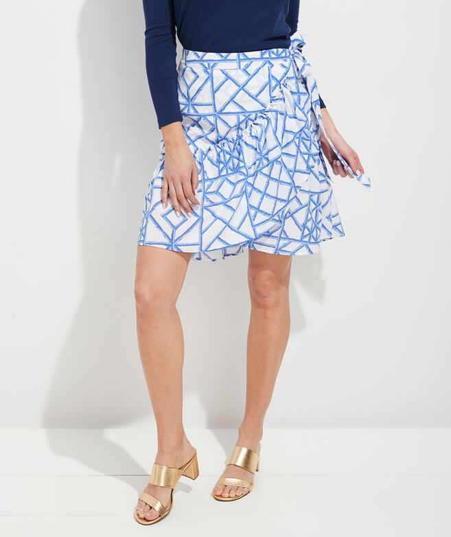Bamboo Lattice Wrap Skirt