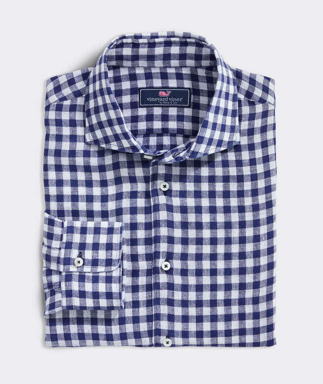 Classic Fit Check Shirt in Linen