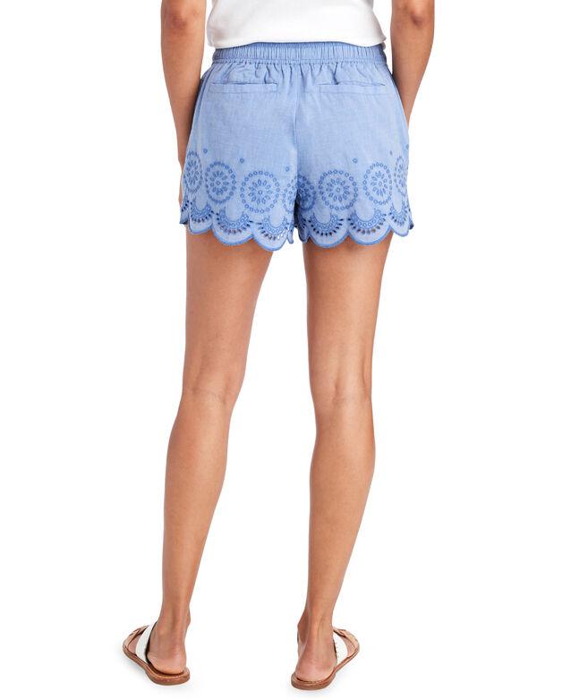 Eyelet Pull-On Shorts