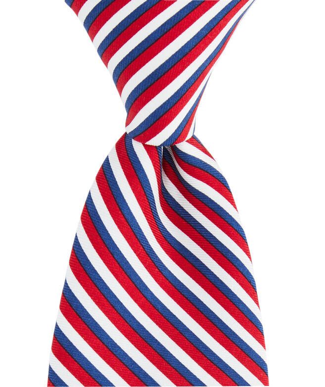 Boys Three Color Stripe Printed Tie