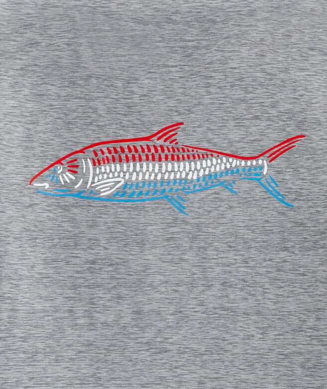Red White & Bonefish Harbor Performance Short-Sleeve Tee