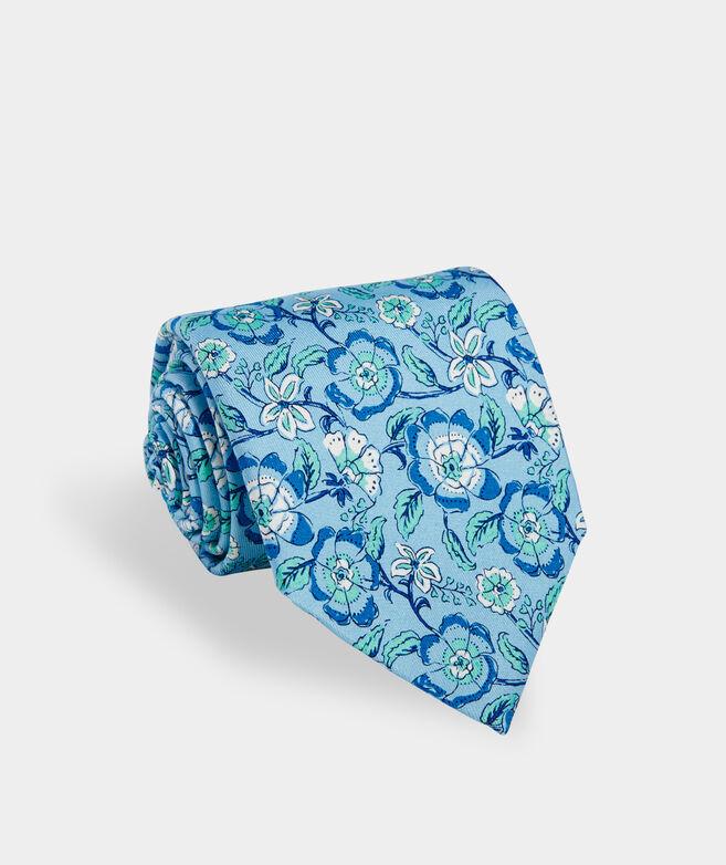 Frangipani Block Printed Tie