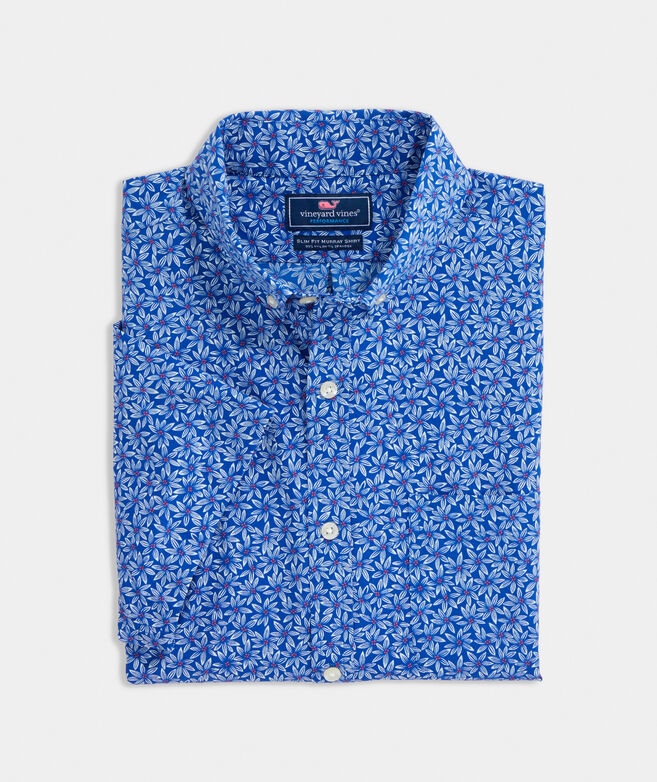 Big & Tall Classic Fit Hope Floral Short-Sleeve On The Go Performance Murray Button-Down Shirt
