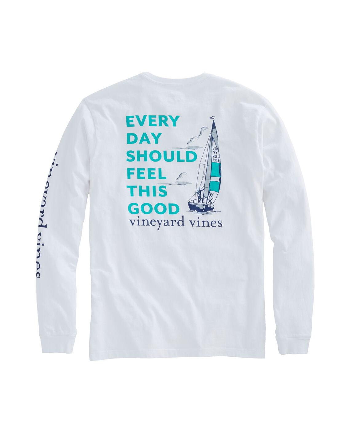 Shop Long-Sleeve EDSFTG Sailing T-Shirt at vineyard vines
