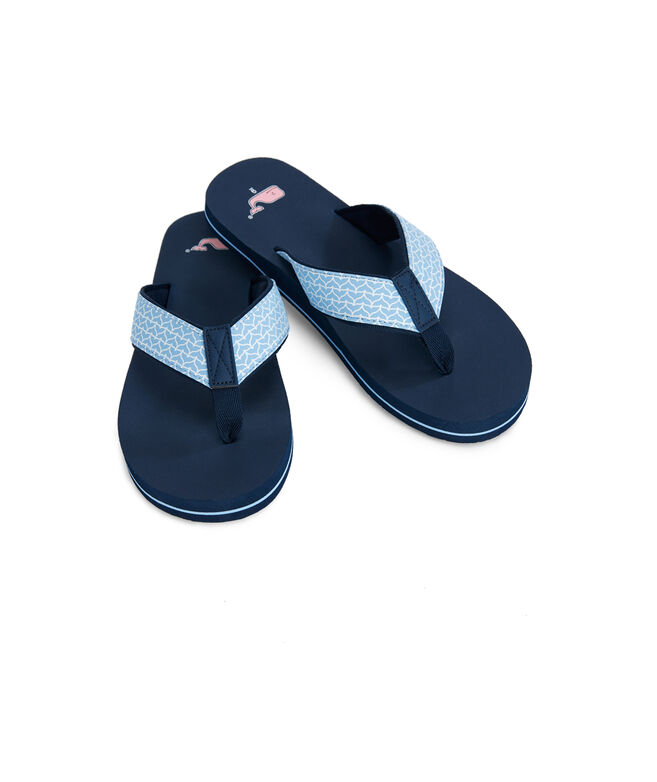 Whale Tail Classic Flip Flops