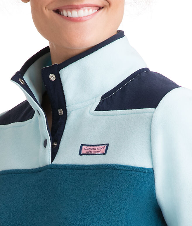 Color Block Fleece Snap Shep Shirt