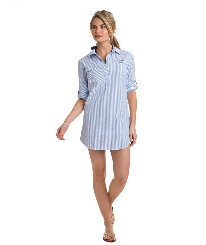 ee00f1859c5d Shop Seersucker Harbor Shirt Cover-Up at vineyard vines