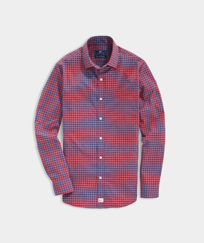 Slim Fit Wells On-The-Go Performance Spread Collar Cooper Shirt