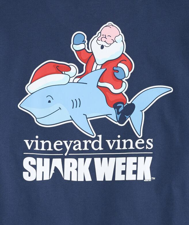 Shark Week Santa Riding Shark T-Shirt