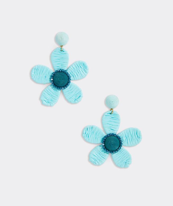 Floral Raffia Wrap Earrings