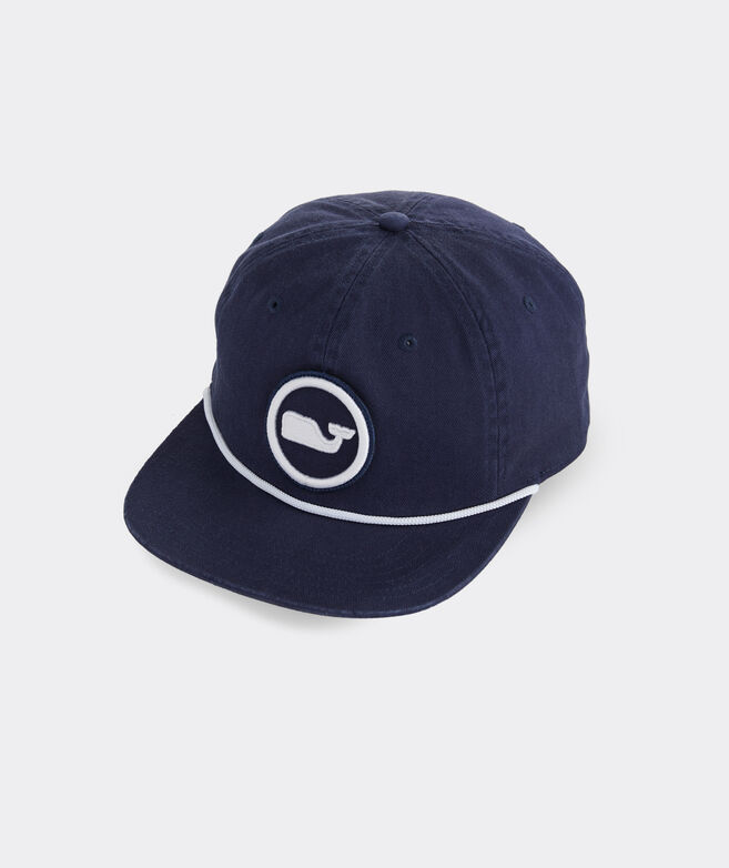 Whale Dot Rope Flat Brim Baseball Hat