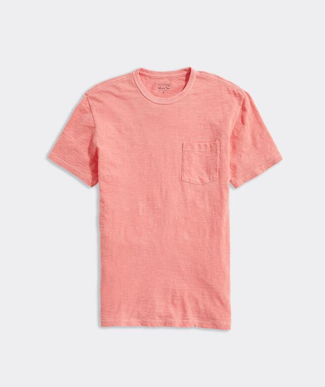 Garment-Dyed Slub Short-Sleeve Island Tee