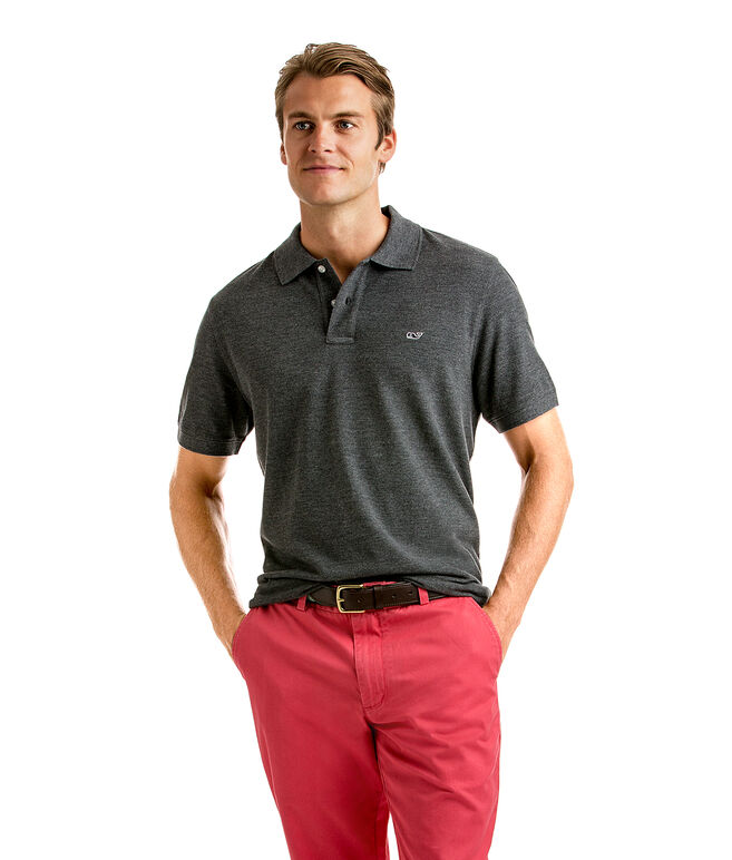 Classic Heathered Pique Polo