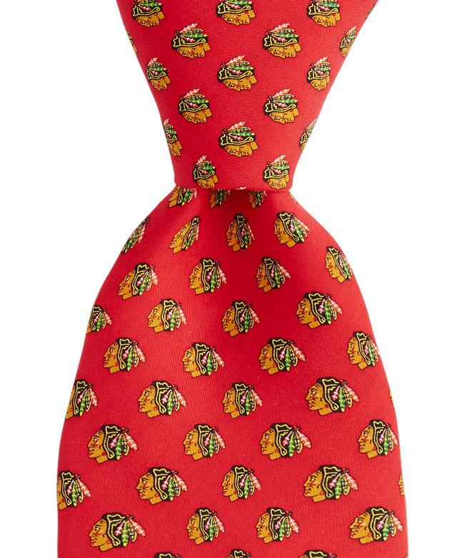 Chicago Blackhawks Logo Tie