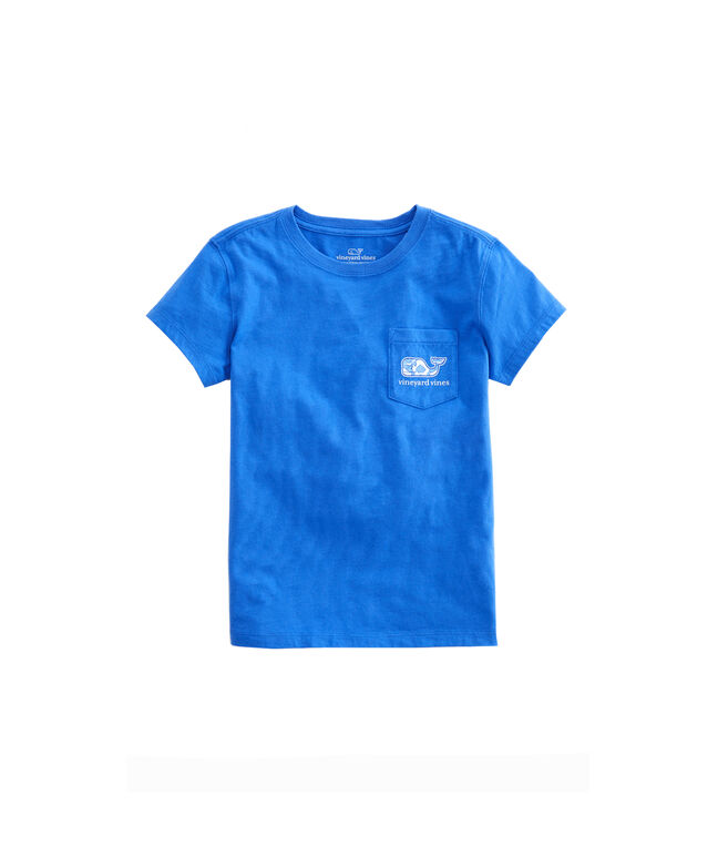 Girls Tile Medallion Whale Fill Pocket Tee