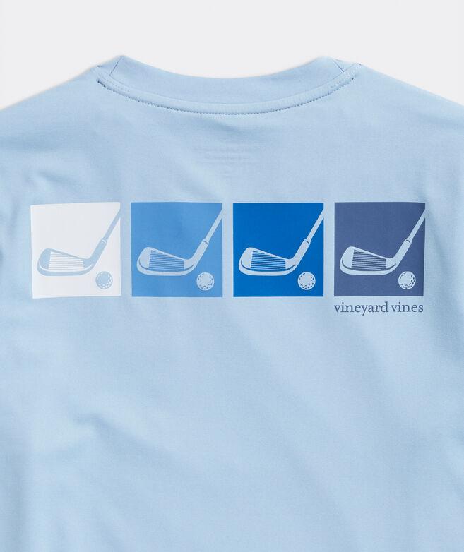 Boys' Golf Clubs Performance Short-Sleeve Tee