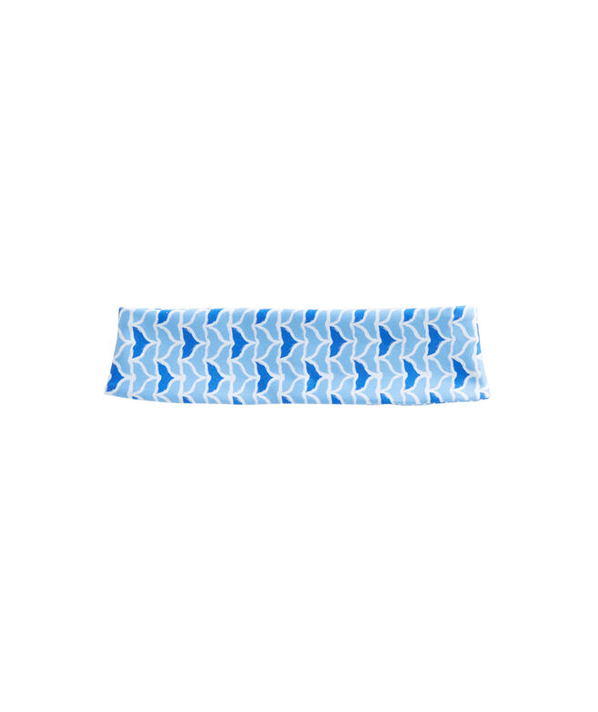 Womens Printed Whale Tail Performance Headband